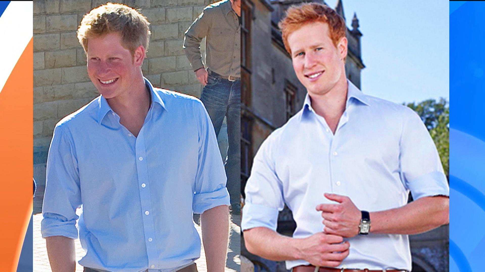 Right: Prince Harry. Left: Matt Hicks, Prince Harry-lookalike