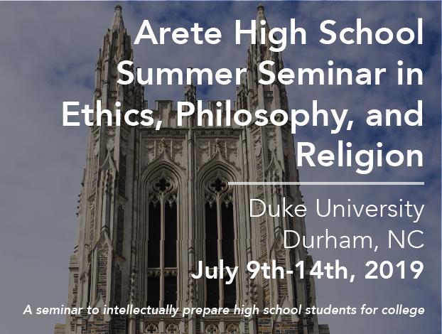 Arete High School Seminar 2019