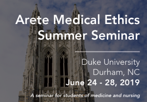 Medical Ethics Summer 2019