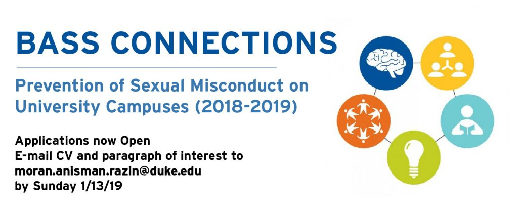 Opportunity to join Bass Connections' project examining sexual misconduct on campus!