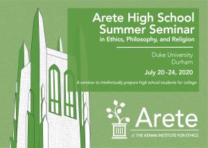 Arete Summer High School Seminar