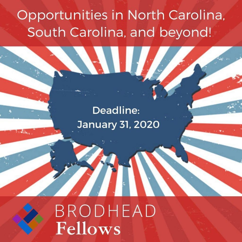 Broadhead Fellows Applications Due 1/31/2020