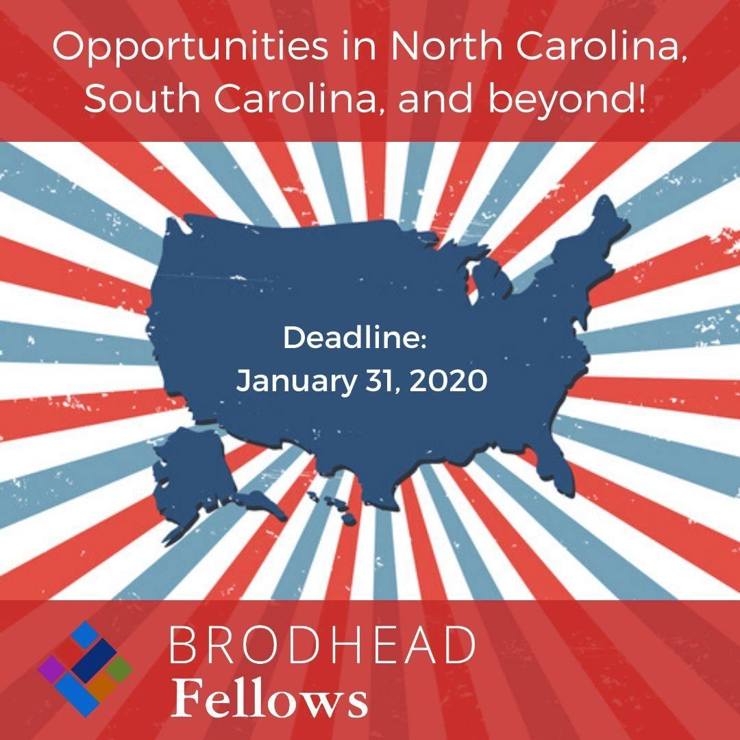 Broadhead Fellows Applications Due 1/31/2020