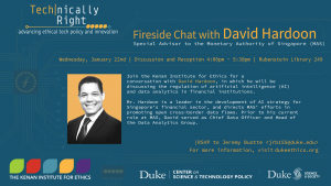 Fireside Chat with David Hardoon - all info below