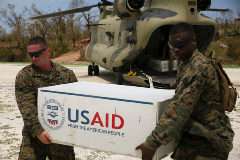 US Aid being delivered