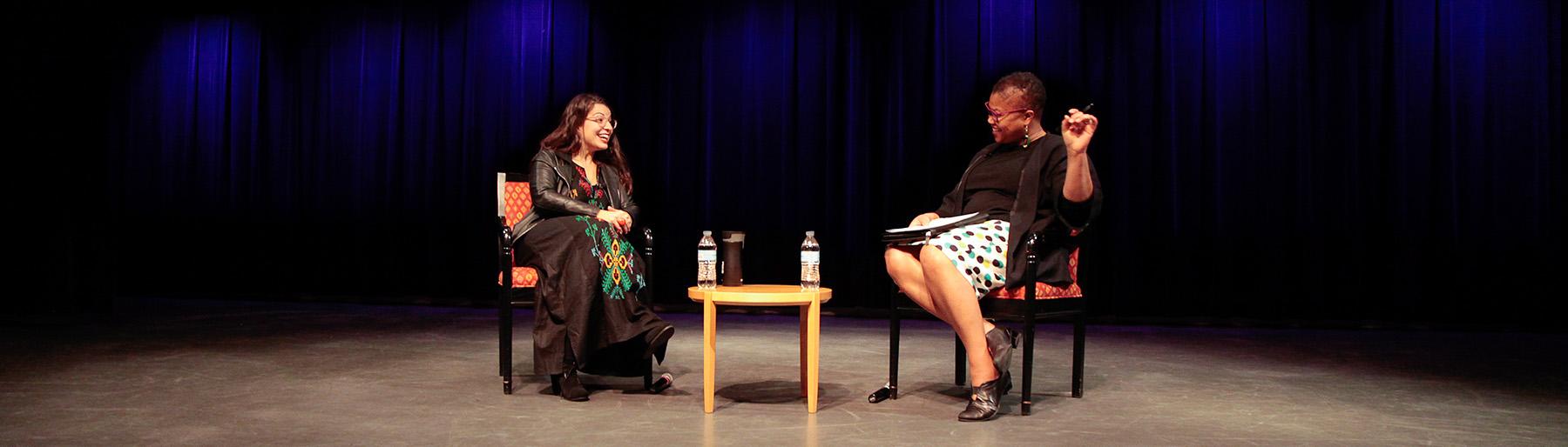 Anita Sarkeesian and Adriane Lentz-Smith EoN Photo