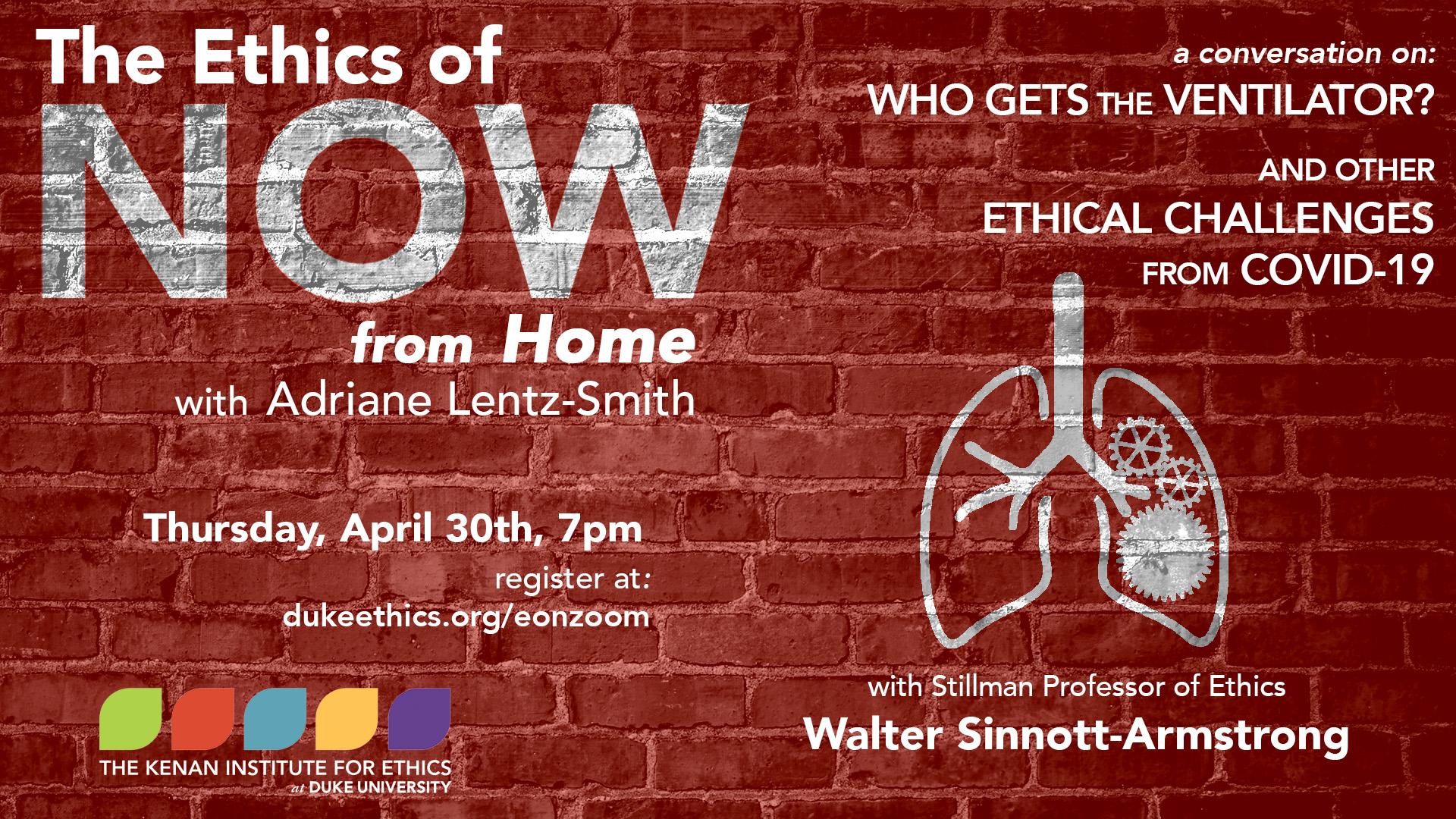 Ethics of Now: Walter Sinnott-Armstrong - all info below
