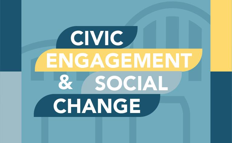 "Decorative tile for ""Civic Engagement & Social Change"" certificate"