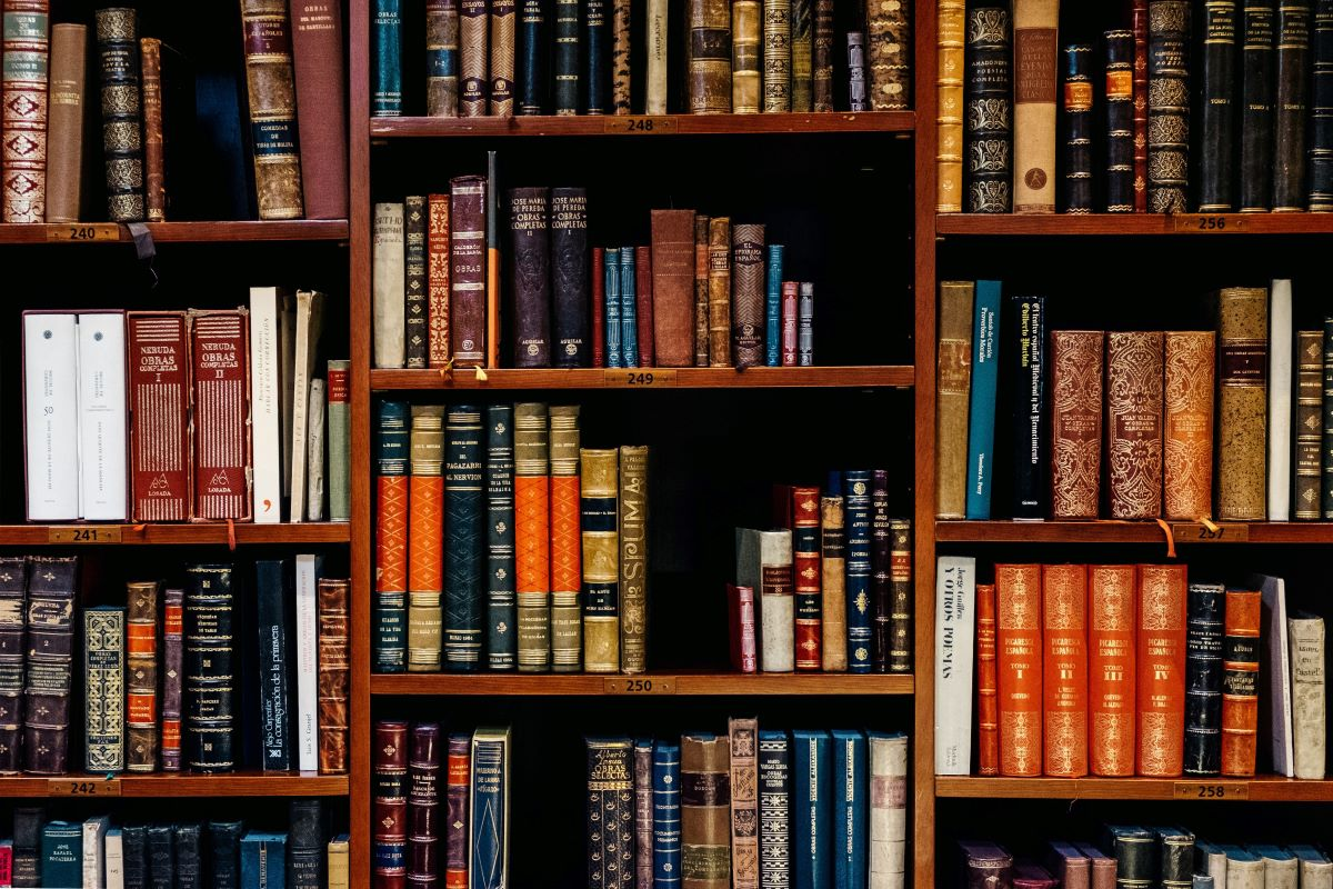 Ornate bookshelf
