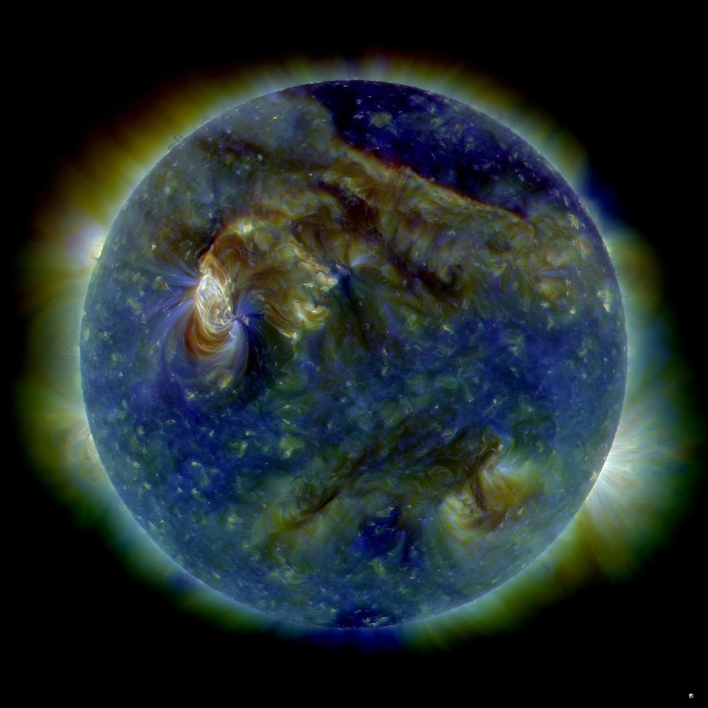 Earth during a special solar flare event