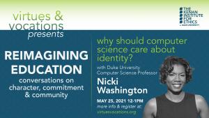 Virtues & Vocations presents Nicki Washington
